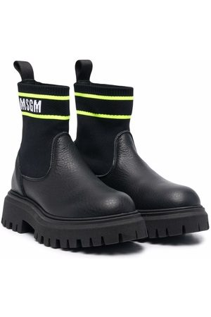 MSGM Kids Boys Boots - Sock-style ankle boots