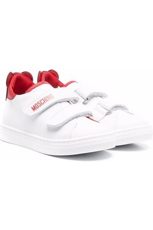 Moschino Kids Teddy touch-strap sneakers