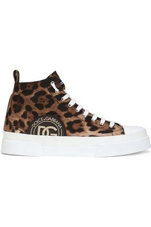 Dolce & Gabbana Portofino high-top leopard print sneakers