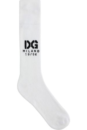 Dolce & Gabbana Logo-intarsia ribbed socks