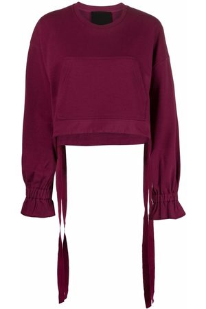 RED Valentino Women Long Sleeve - Gathered-detail long-sleeve top