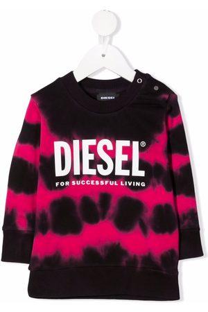 Diesel Kids Tie-dye print jumper