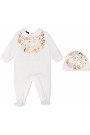 Versace Kids Greca-print pajamas