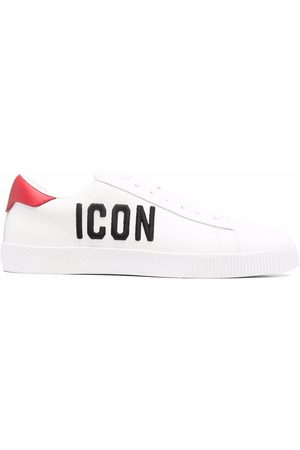 Dsquared2 Icon-embroidered calf leather sneakers
