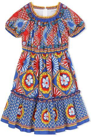 Dolce & Gabbana Kids Carretto print midi sundress