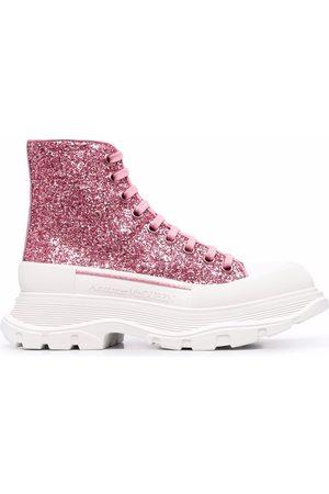 Alexander McQueen Tread Slick glittered ankle boots
