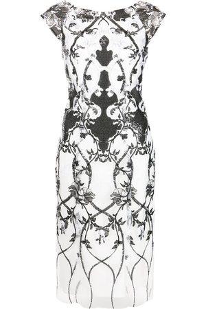 Marchesa Notte Sequin-embellished sleeveless dress