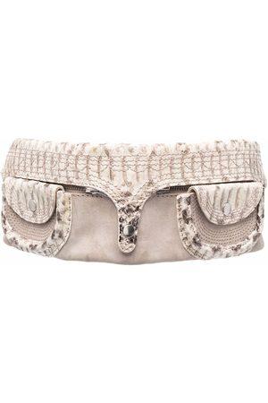 Gianfranco Ferré Women Belts - 2000s detachable pockets snakeskin effect belt