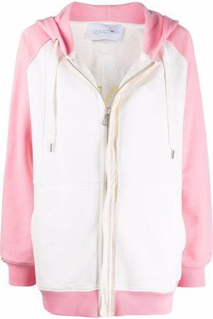 AZ FACTORY Free To Love appliqué zipped hoodie