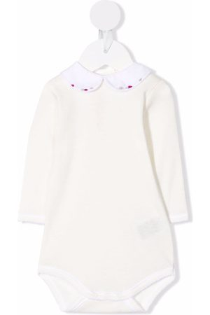 Bonpoint Baby Rompers - Embroidered-collar romper