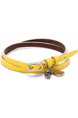 Alexander McQueen Charm-detail double-wrap bracelet