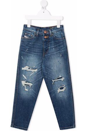 Diesel Kids Boys Straight - Mid-rise straight jeans