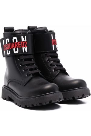 Dsquared2 Kids Logo-print leather boots
