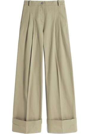 Victoria Victoria Beckham Women Chinos - High-waisted flared chino trousers