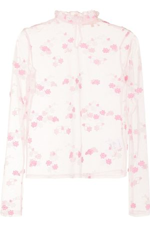 BAPY BY *A BATHING APE® Sheer Floral Embroidered top