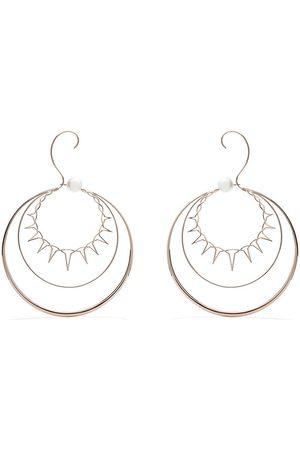 TASAKI 18kt rose gold Nacreous South Sea pearl earrings