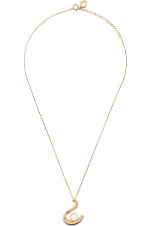TASAKI 18kt yellow Cascade Akoya pearl pendant