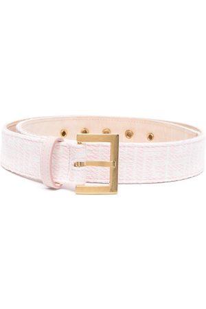 Balmain Women Belts - Monogram pattern belt