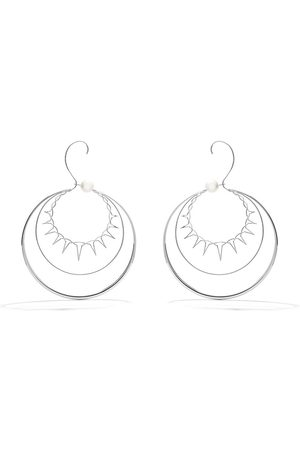 TASAKI 18kt white gold Nacreous South Sea pearl earrings