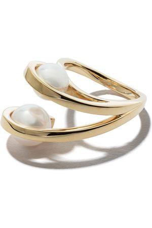 Tasaki Women Rings - 18kt yellow Aurora Akoya pearl ring
