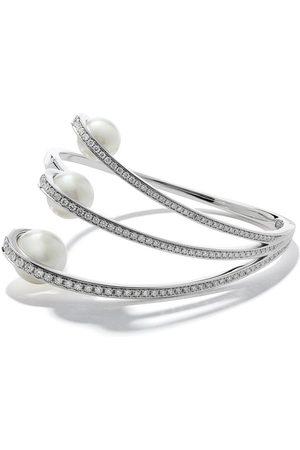 Tasaki Women Bracelets - 18kt white gold Aurora South Sea pearl and diamond bracelet