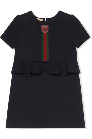 Gucci Web-stripe peplum dress