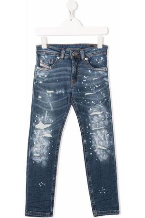 Diesel Boys Jeans - Thommer splatter-print jeans