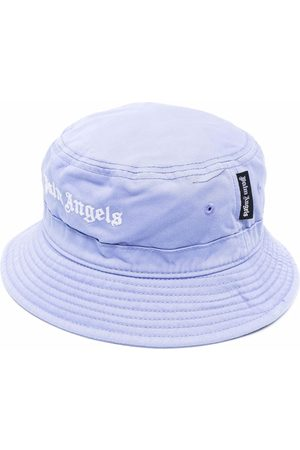 Palm Angels Women Hats - CLASSIC BUCKET HAT LILAC WHITE