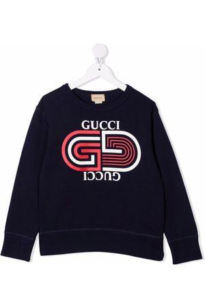 Gucci Logo-print crew neck sweatshirt