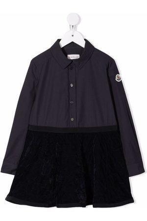Moncler Girls Casual Dresses - Velvet-skirt shirt dress