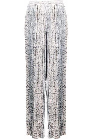 FORTE FORTE Women Pants - Leopard print straight-leg trousers