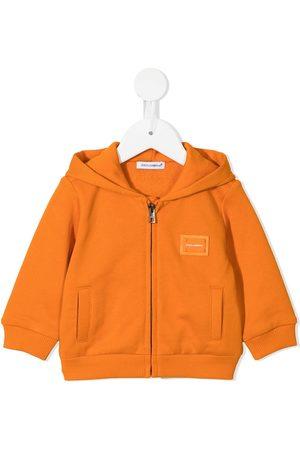 Dolce & Gabbana Baby Jackets - Logo-patch cotton jacket