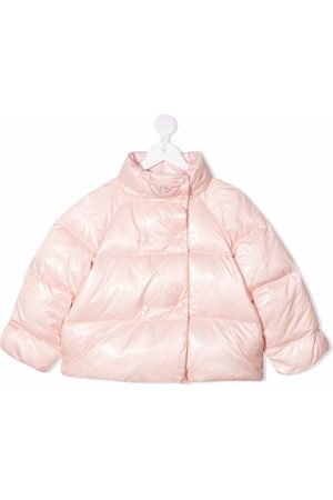 Emporio Armani Girls Jackets - Double-breasted puffer jacket