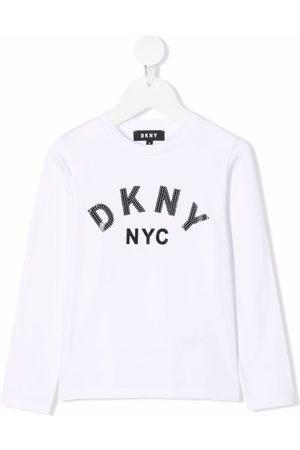 DKNY Logo-print long-sleeved T-shirt