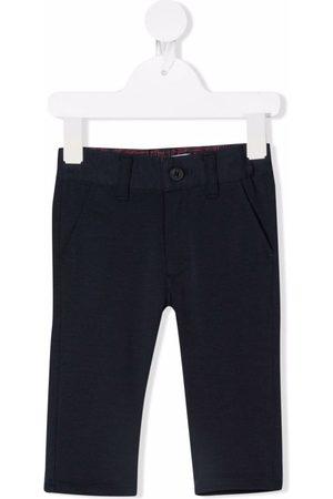 HUGO BOSS Girls Straight - High-rise straight-leg trousers