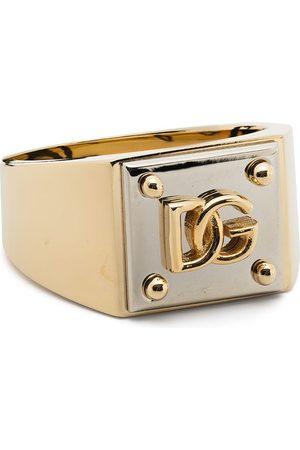 Dolce & Gabbana Men Rings - Two-tone logo ring