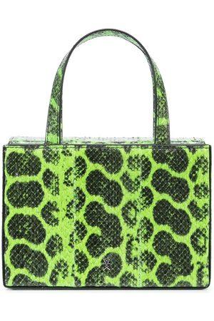 Amina Muaddi Giorgia snakeskin-effect mini bag