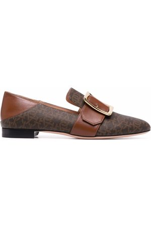 Bally Women Loafers - Collapsable-back leather loafers