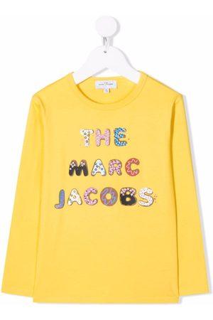 The Marc Jacobs Girls Long Sleeve - Logo-print cotton T-Shirt