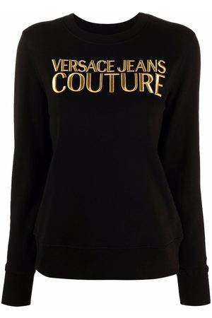 VERSACE Embroidered-logo cotton top