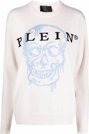 Philipp Plein Skull-intarsia jumper