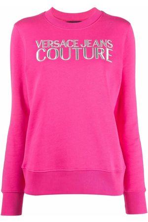 VERSACE Logo-print crew neck sweatshirt