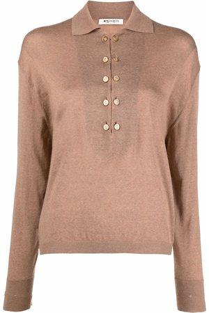 PORTS 1961 Women Long Sleeve - Long-sleeve wool polo top