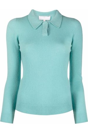 AMI AMALIA Polo-collar knit jumper
