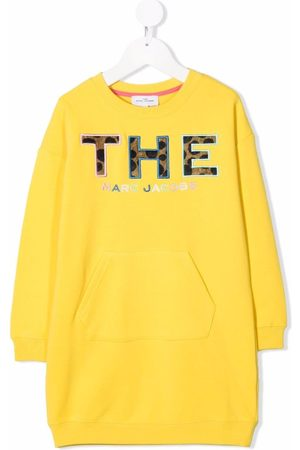 The Marc Jacobs Girls Sweatshirts - Logo patch sweatshirt dress