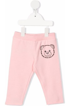 Moschino Girls Trousers - Teddy bear print tracksuit bottoms