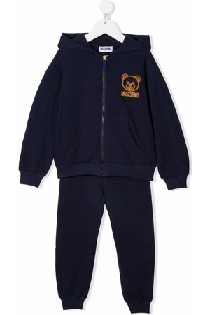 Moschino Embroidered-Teddy tracksuit set