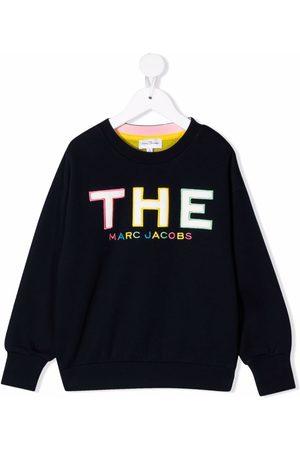 The Marc Jacobs Girls Sweatshirts - Logo-embroidered sweatshirt