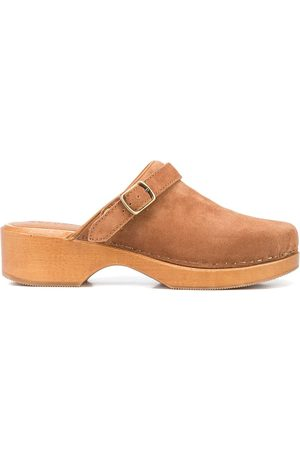 RE/DONE 70s suede clogs