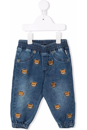 Moschino Embroidered Teddy Bear jeans